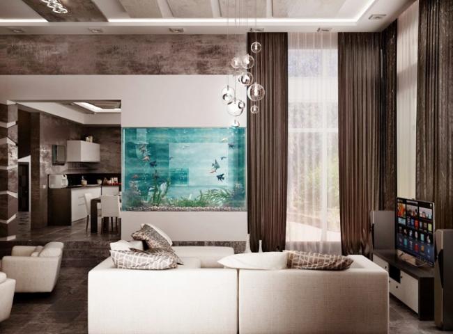 Aquarium Wohnzimmer Bemerkenswert On In Ideen 108 Designs Zum Integrieren Der Wohnung 6