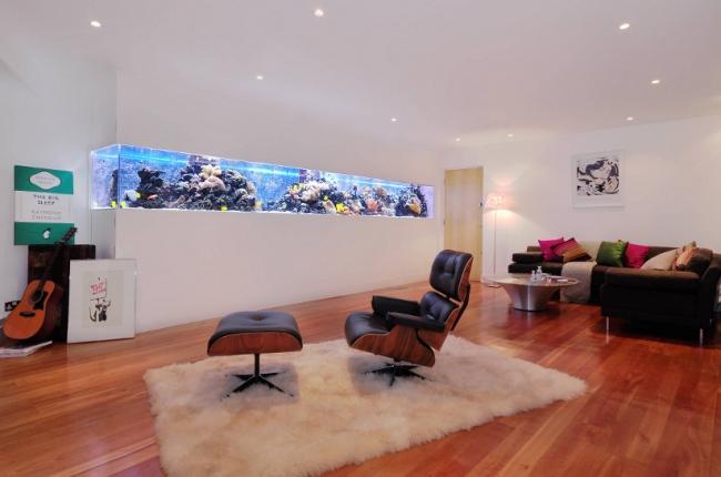 Aquarium Wohnzimmer Bescheiden On Innerhalb Ideen Wand Integriert Home Pinterest 1