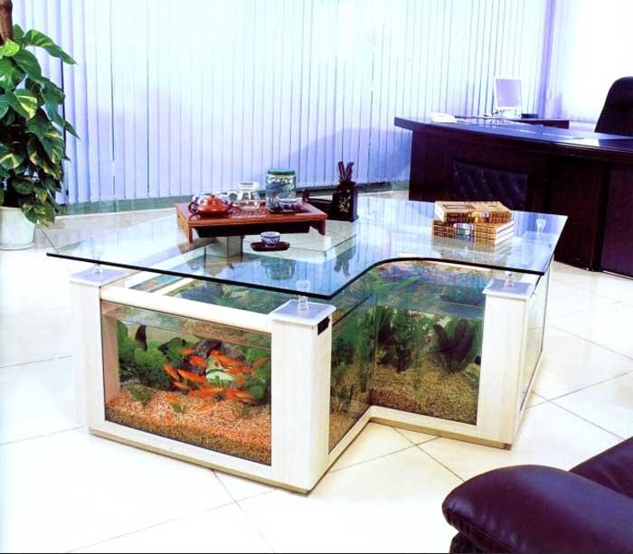 Aquarium Wohnzimmer Nett On Für Couchtisch Die Einzigartige Möbel Ideen 5