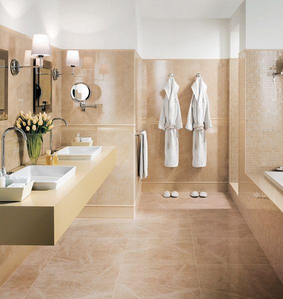 Bad Einrichten Beige Exquisit On Auf Badezimmer In Modern Interessant Fliesen Wohndesign 5