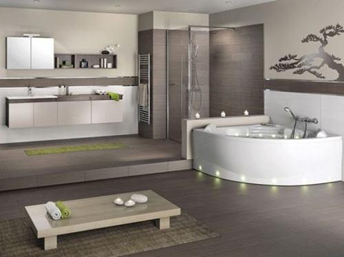 Bad Fliesen Braun Exquisit On In Bezug Auf Grau Trimmer Badezimmer Plus 5