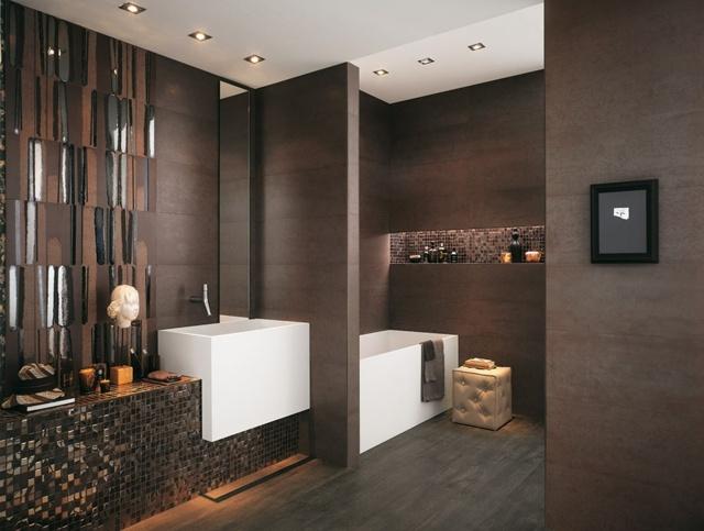 Bad Mit Mosaik Braun Erstaunlich On Für Fliesen Furs Am Besten Badezimmer In Wohndesign 3