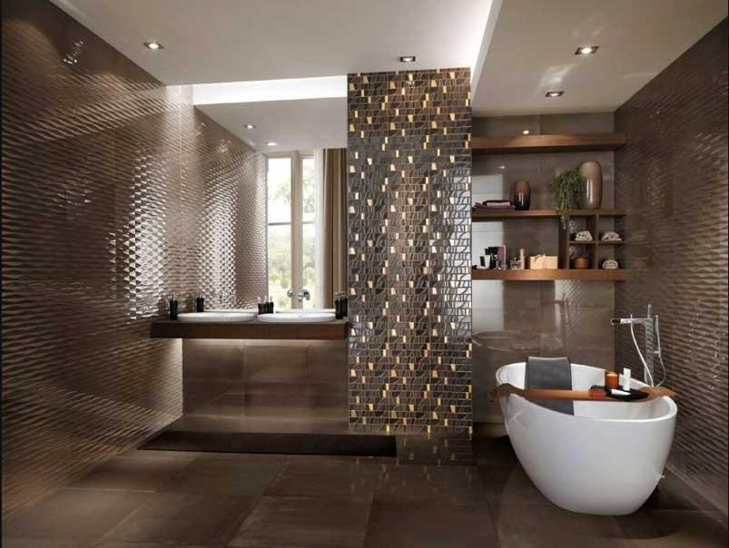 Bad Mit Mosaik Braun Unglaublich On Für Schöner Wohnen Badezimmer Fliesen Muster In 4