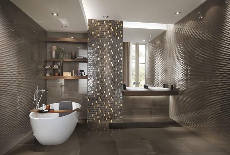 Bad Modern Bemerkenswert On Beabsichtigt Wall Tiles For The Bathroom 30 Tile Designs And Trends 5