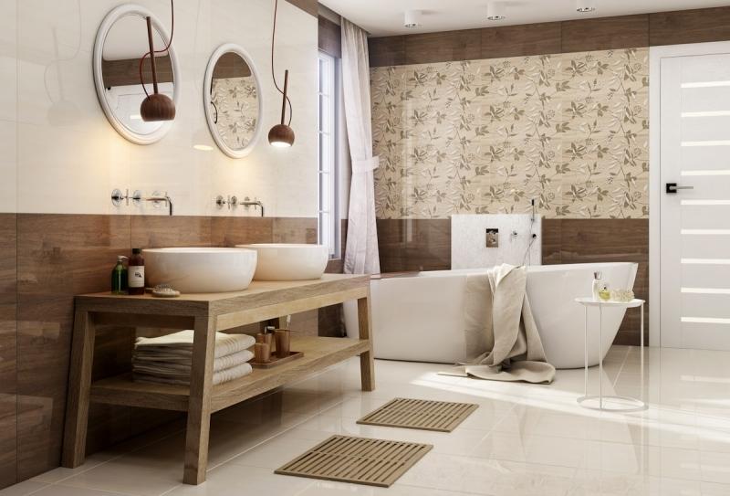 Badezimmer Beige Braun Charmant On In Bezug Auf Modern Gestalten Tipps Und Ideen 8