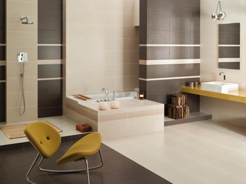 Badezimmer Beige Braun