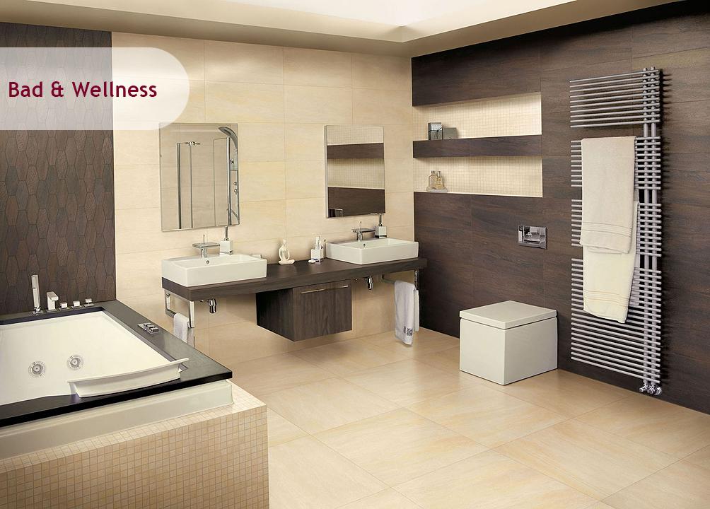 Badezimmer Beige Braun Zeitgenössisch On In Wohndesign 6