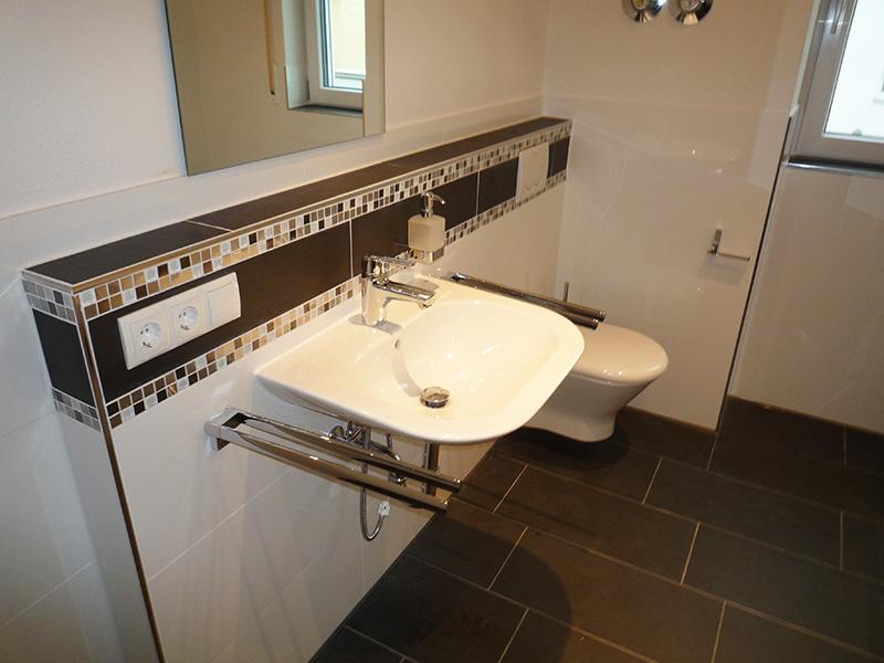 Badezimmer Bordüre Beispiel Beeindruckend On Auf Frisch Glasmosaik Bad Braun Muster Zusammen 2