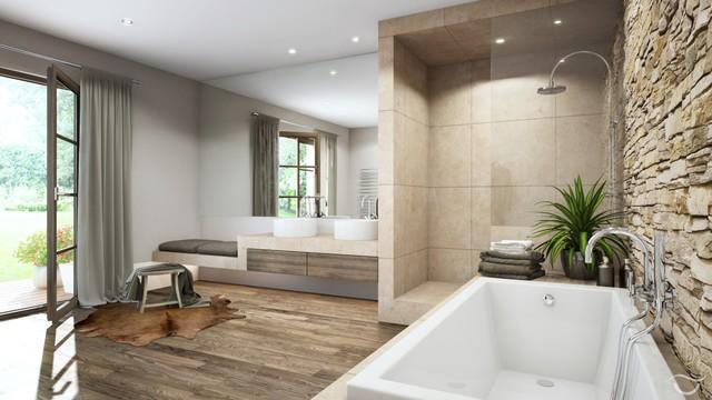 Badezimmer Design Bescheiden On Auf RUSTICO 8
