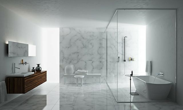 Badezimmer Design Interessant On Für 105 Ideen Stein Und Holz Kombinieren 1