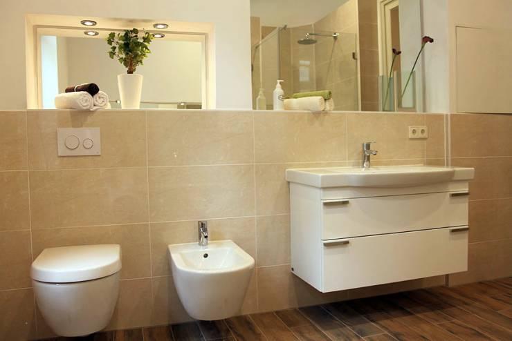 Badezimmer Einrichten Sandsteinoptik