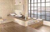 Badezimmer Fliesen Braun Creme