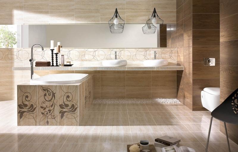 Badezimmer Fliesen Sandfarben Einfach On Mit In Beige Modern Gestalten Tipps Und Ideen 5