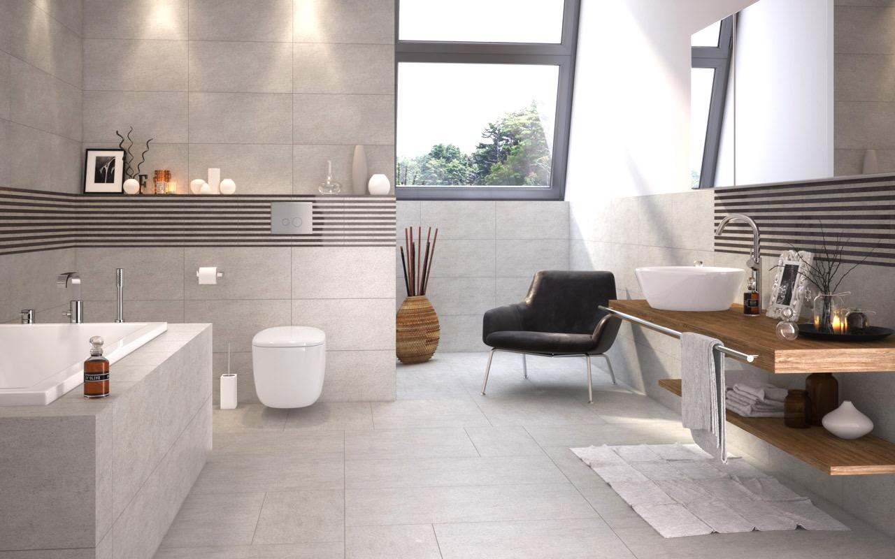 Badezimmer Fliesen Taupe Zeitgenössisch On Beabsichtigt Glamourös Grau Beige Wohndesign 2