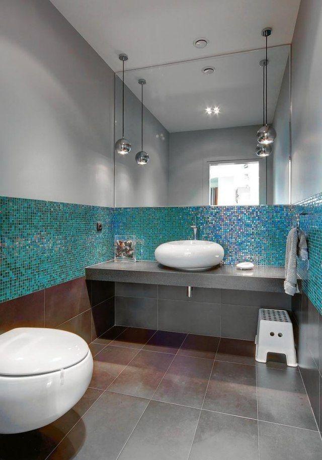 Badezimmer Grau Mit Mosaik Blau Exquisit On Die Besten 25 Fliesen Ideen Auf Pinterest 2