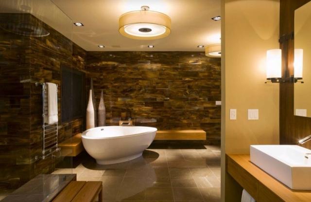 Badezimmer Holz Ausgezeichnet On Auf Fortschrittliche 105 Design Ideen Stein 3
