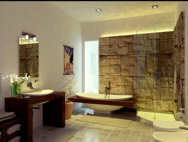 Badezimmer Holz Charmant On In Bezug Auf Bad Aus Gestalten Ideen Für Rustikale Badeinrichtung 7