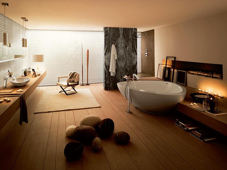 Badezimmer Holz Kreativ On In Bezug Auf Kunst Im Bad Der Trick Mit 10 5