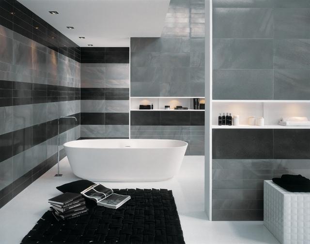 Badezimmer Ideen Grau Charmant On Auf Angenehm Designs Auch Fliesen 6