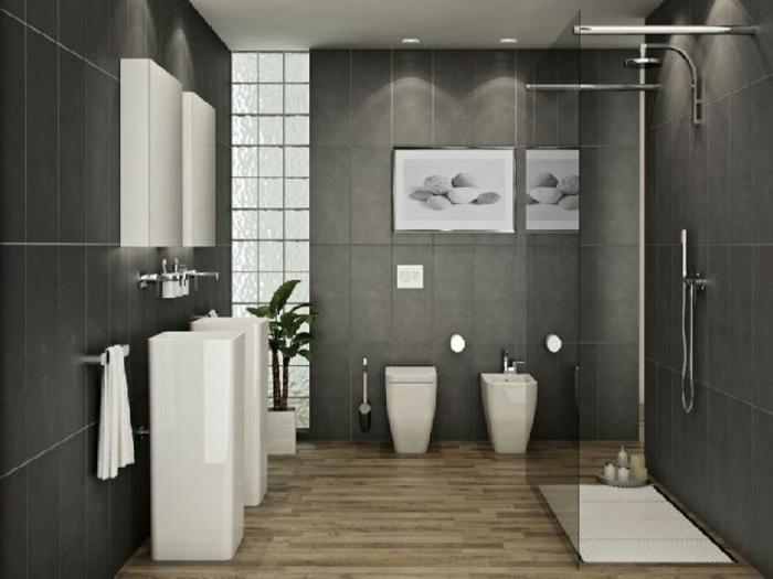 Badezimmer Ideen Grau Glänzend On Auf Cabiralan Com 9