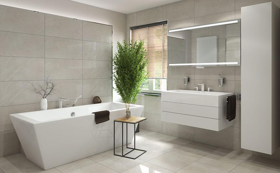 Badezimmer Imposing On Innerhalb Musterbäder Ideen Von HORNBACH 1