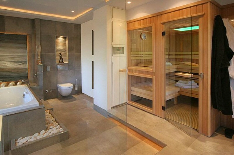 Badezimmer Mit Sauna Und Whirlpool Erstaunlich On Auf Tagify Us 4