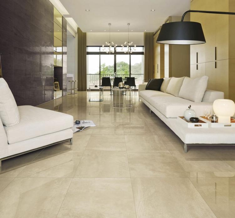 Beige Fliesen Wohnzimmer Beeindruckend On Für In Steinoptik Fünf Italienischer Marken Im Traumdesign 5