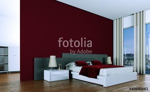 Bordeaux Schlafzimmer