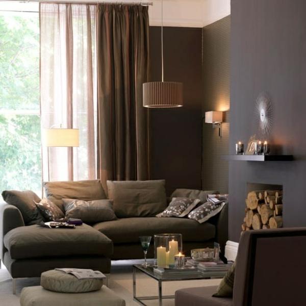 Braun Rosa Wohnzimmer Beeindruckend On Und Natürliche Farbgestaltung In Erdtönen 9