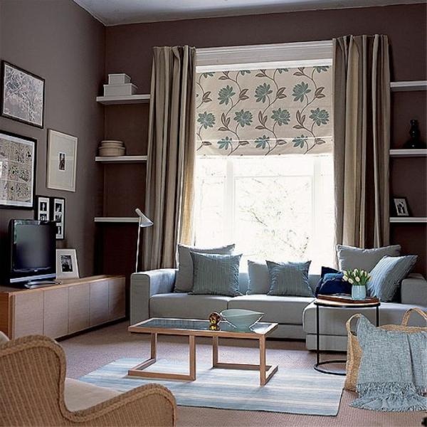 Braun Rosa Wohnzimmer Fein On Und Natürliche Farbgestaltung In Erdtönen 2