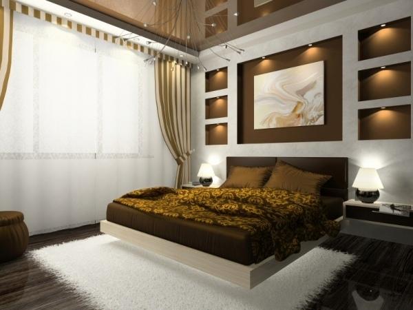 Braun Schlafzimmer Glänzend On Für Innendesign Ideen Wanddeko Gestaltung Gelb Rund Ums 9