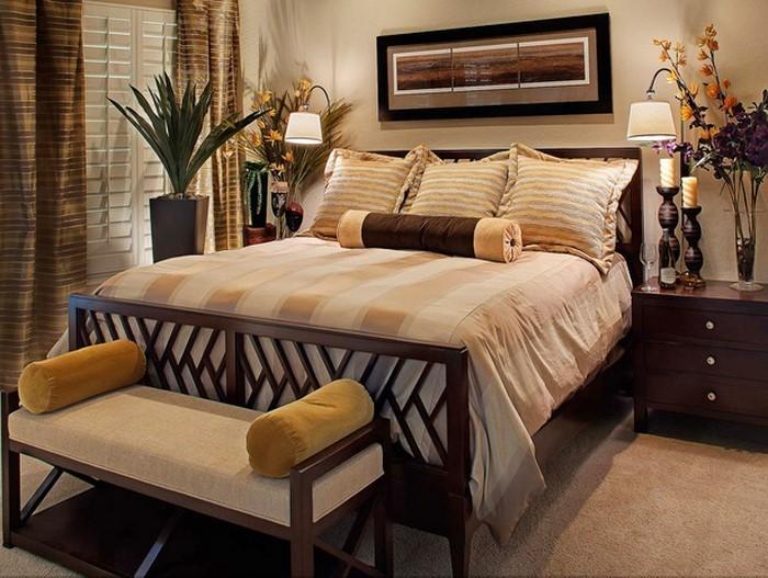 Braun Schlafzimmer Unglaublich On Mit Wandgestaltung Mild Am Besten Braunes Ideen 3