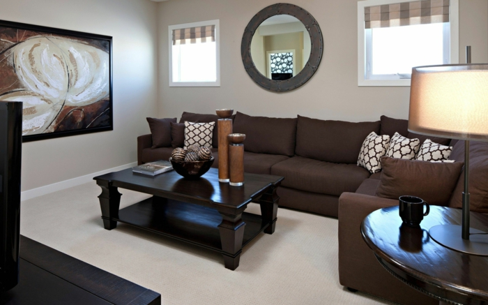Braun Weiß Wohnzimmer Zeitgenössisch On Beabsichtigt 60 Möglichkeiten Wie Sie Ein Braunes 4