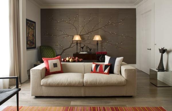 Braune Tapete Wohnzimmer Glänzend On Braun überall Tapeten Für Micheng Us 1