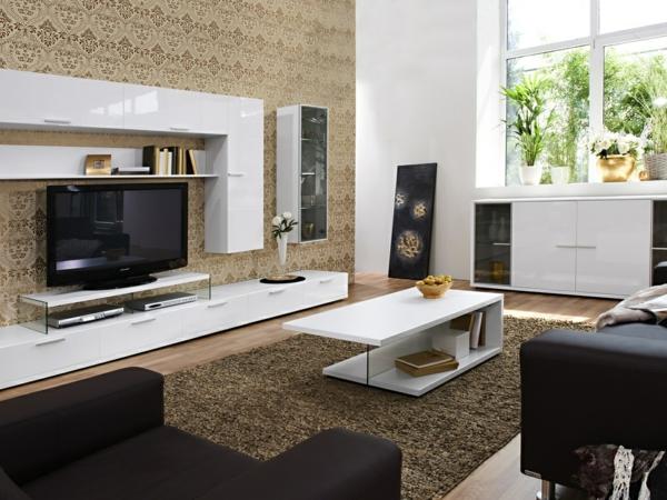 Braune Tapete Wohnzimmer Nett On Braun In Bezug Auf Awesome Tapeten Ideen Pictures House Design 6