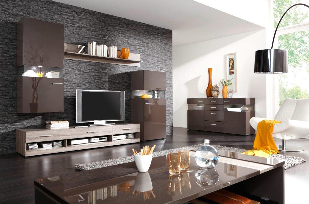 Braune Tapete Wohnzimmer Schön On Braun In Bezug Auf Cabiralan Com 9
