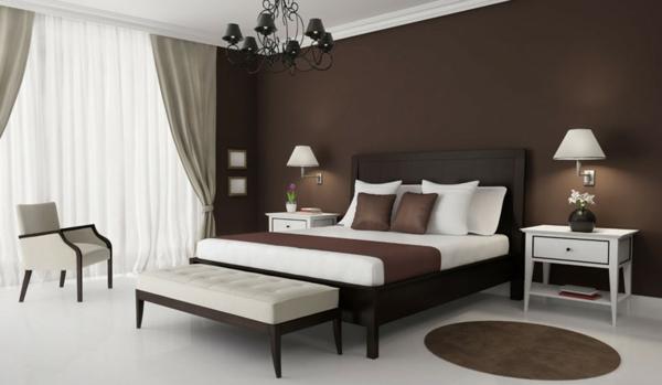 Braune Wandfarbe Schlafzimmer Zeitgenössisch On Braun Für Awesome Style Architektur A Stilvoll 3