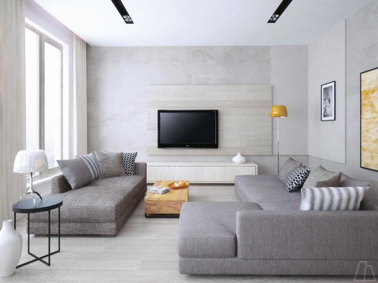 Creme Graues Wohnzimmer Charmant On Für Schlafsofa In Grau Ein Modernes Und Funktionales 4