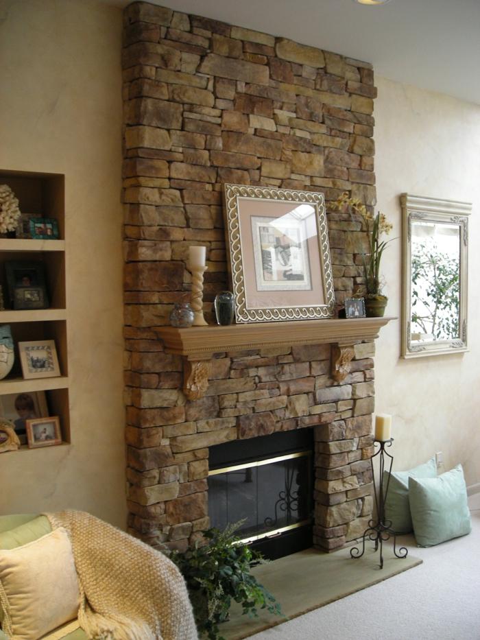 Deko Steinwand Stilvoll On Andere überall Wohnzimmer 43 Glamourös Wohndesign 1