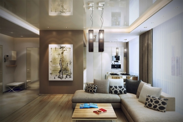 Einrichtung Weiß Braun Beeindruckend On In Bezug Auf Wohnzimmer Weiss Ziakia Com 7