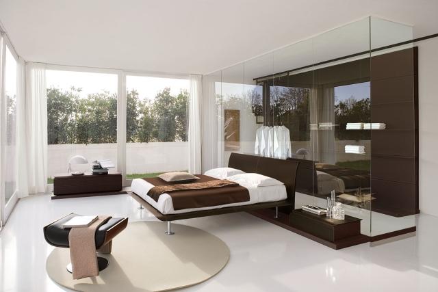 Einrichtung Weiß Braun Glänzend On Und 105 Schlafzimmer Ideen Zur Wandgestaltung 8