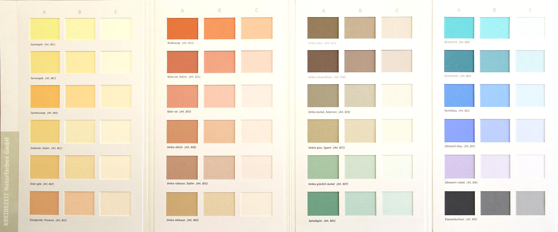 Farbpalette Wandfarben Braun