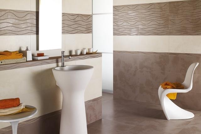 Fliesen Badezimmer Braun Herrlich On Innerhalb Creme Wohndesign 5
