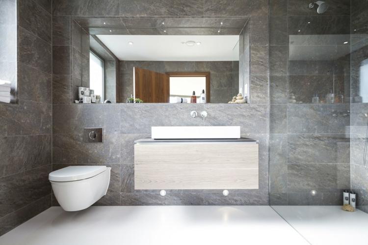 Fliesen Badezimmer Grau Einzigartig On Mit Fürs Bad 90 Ideen Bilder 7