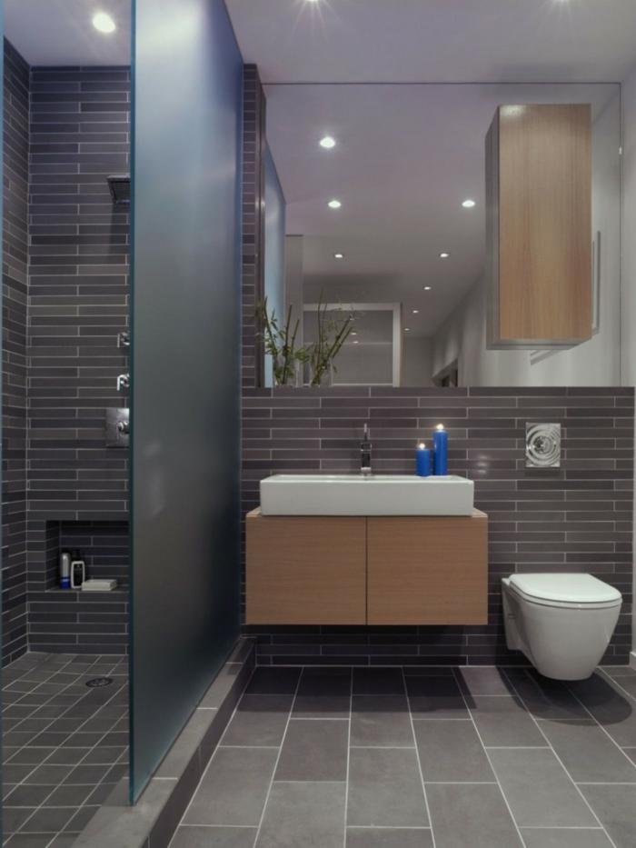 Fliesen Badezimmer Grau Modern On überall Graue Fürs 61 Bilder Die Sie Beeindrucken 1