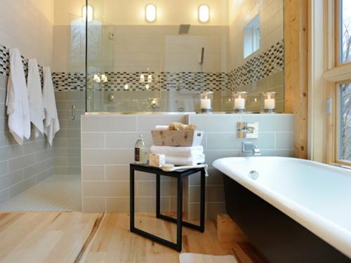 Fliesen Ideen Bad Interessant On überall Coole Badezimmer Badewanne Glas Wohnidee 8
