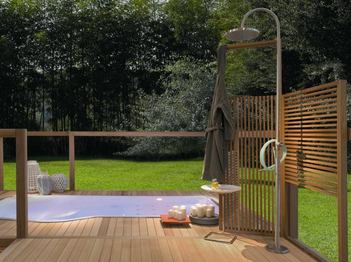 Gartendusche Ideen Beeindruckend On Auf Sichtschutz Für Die Outdoor Dusche Gesucht 1