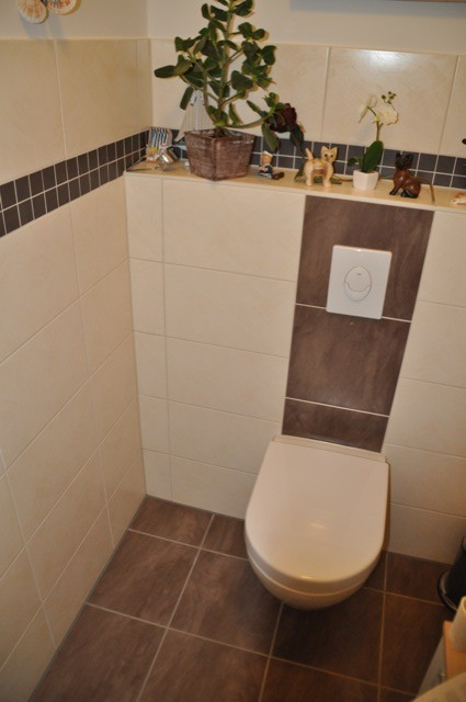 Glasmosaik Fliesen Braun Beige Gäste Wc Einzigartig On In WC Fliese Welche Passt Zur Toilette Hausbau Blog 7