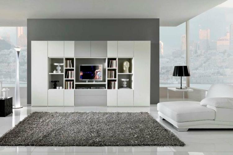 Grau Weißes Wohnzimmer