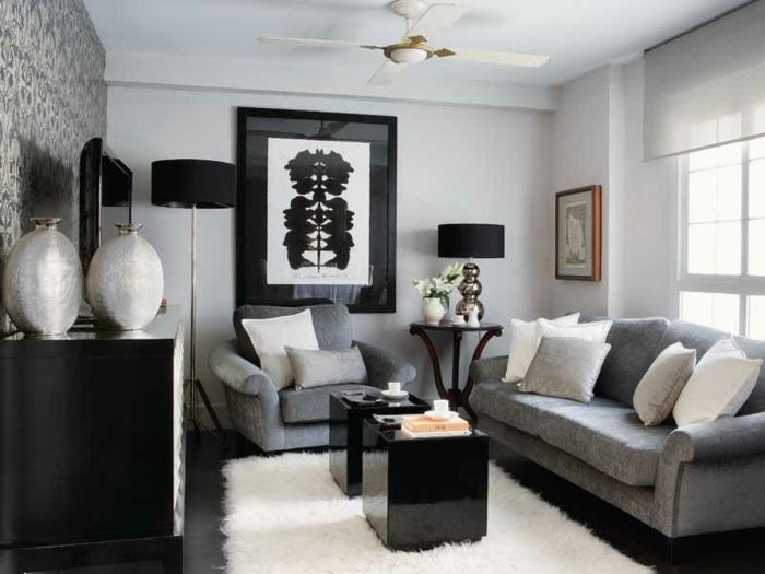 Grau Weißes Wohnzimmer Frisch On In Kleines Einrichten 57 Tolle Für 8